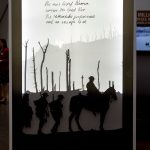 DM75 Exhibition Dickin Medal recipient Warhorse Warrior Lightbox representing the 8 million horses of WWI